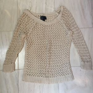 Like new crocheted knit sweater